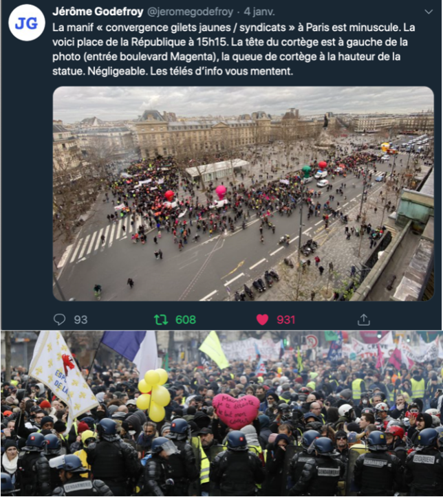 Photo Godefroy AFP 644x723 - MANIFESTATIONS : COMPTES, COMPTAGE ET CONTES